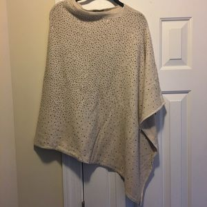Neiman Marcus Gold-Studded Poncho
